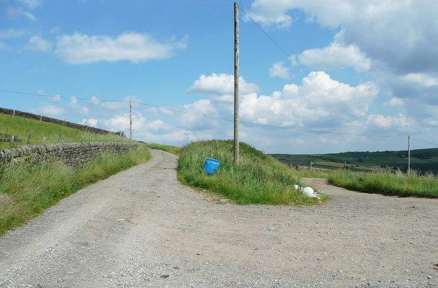 Junction of Halifax Bridleways 155 and 156