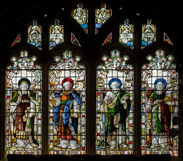 Stained glass window, St Clement's church, Hastings
