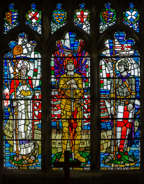 Memorial stained glass window, St Clement's church