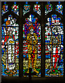 TQ8209 : Memorial stained glass window, St Clement's church by Julian P Guffogg