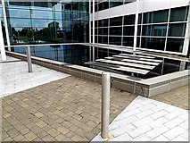 SU3715 : Water Feature at the entrance of Explorer House by Adrian Cable