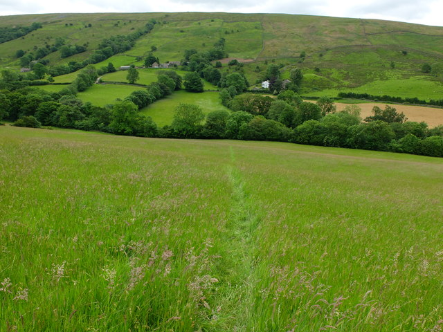The footpath leading to Lenny's Leap