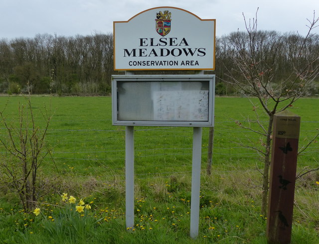Sign at the Elsea Meadows Nature Reserve