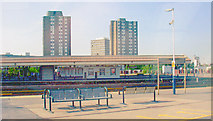 TQ2775 : Clapham Junction Station, looking northwest from a local train by Ben Brooksbank