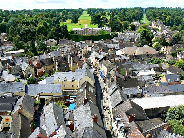 West from St John's Church tower roof, Cirencester (1)