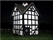 SO3955 : Dovecote in the Dark by Des Blenkinsopp