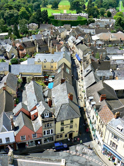 West from St John's Church tower roof, Cirencester (3)