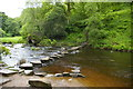 SD9729 : Stepping stones, Hebden Water by Christopher Hilton