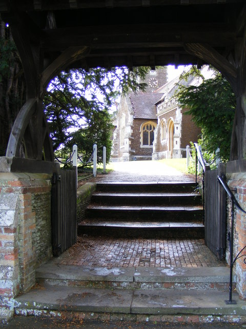 Lych gate at the Church of St. Mary Magdalene, Sandringham