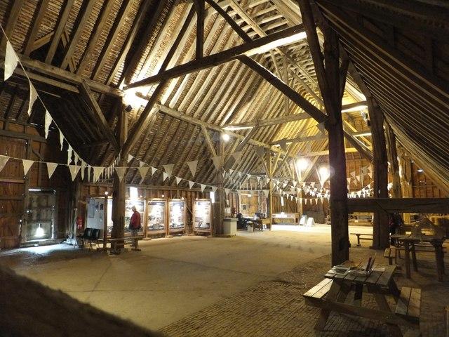 Interior of Coggeshall Grange Barn