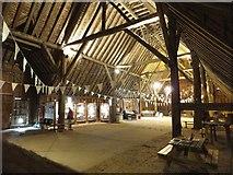 TL8422 : Interior of Coggeshall Grange Barn by David Smith
