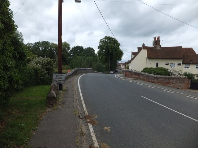 Long Bridge over Back Ditch, Coggeshall by David Smith