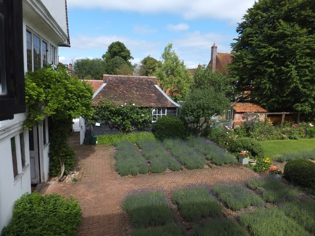 Part of the garden of Paycockes House, Coggeshall