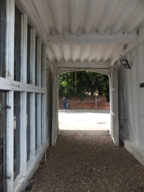 Entrance passageway of Paycockes House, Coggeshall by David Smith