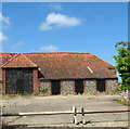 TG0139 : Flint barns by Blue Tile Farm by Evelyn Simak