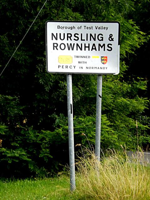 Nursling & Rownhams Village Name sign