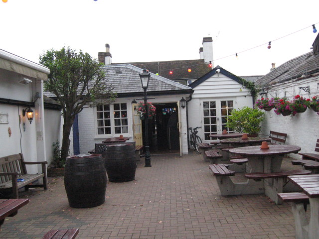 Nobody outdoors at the Lord Nelson-Hythe, Southampton, Hants