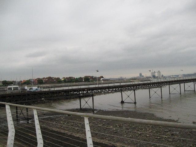 Water as grey as the sky-Hythe, Southampton, Hants