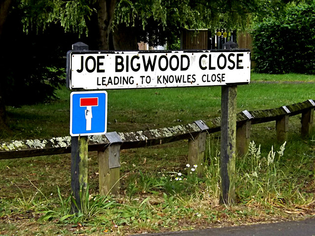 Joe Bigwood Close sign