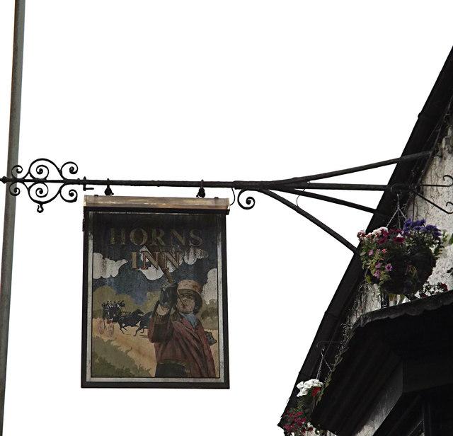 Horns Inn Public House sign