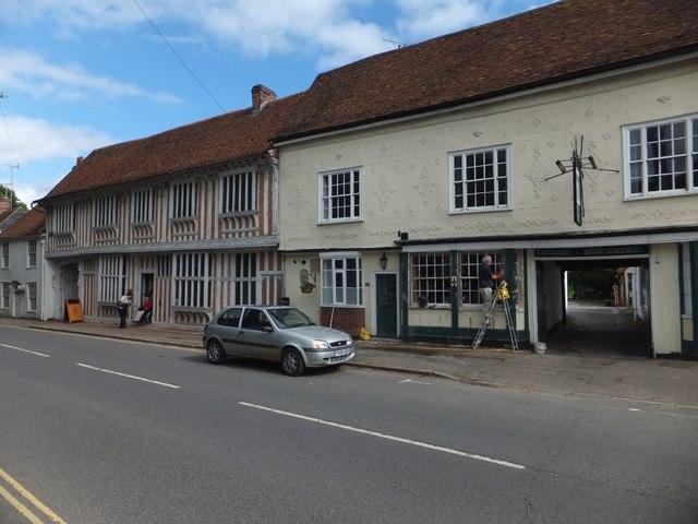 The Fleece inn and Paycockes House, Coggeshall by David Smith