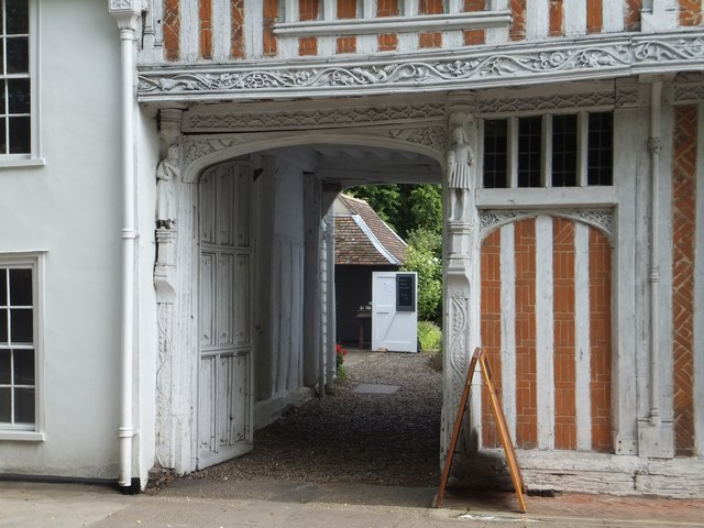 Entrance passageway to Paycokes House, Coggeshall by David Smith
