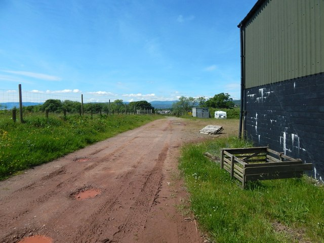 Passing farm buildings
