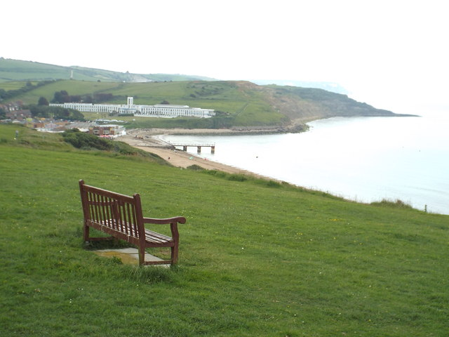 Bench overlooking Weymouth Bay