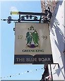 SU3987 : The Blue Boar (2) - sign, 4 Newbury Street, Wantage, Oxon by P L Chadwick