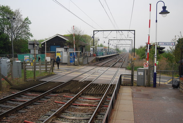 Level crossing at Waterbeach Station