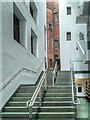 SJ8398 : Rylands Library, Stairs in New Entrance Wing by David Dixon