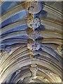 SJ8398 : Sculptured Ceiling, John Rylands Library by David Dixon