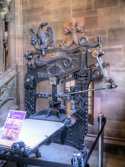 The Columbian Printing Press at The John Rylands Library