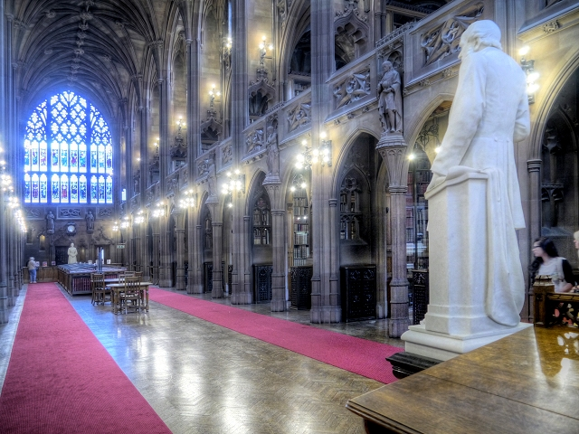 The Central Reading Room at John Rylands Library