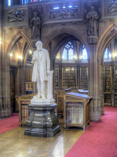 John Rylands' Statue, Rylands Library