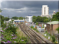 SU4112 : View towards Southampton Station by Alan Murray-Rust