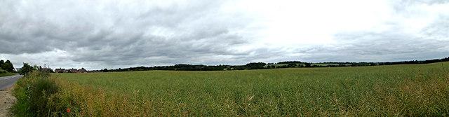 Panoramic view off the B1117 Walpole Road