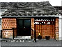 H4174 : Gillygooley Orange Hall (entrance) by Kenneth  Allen