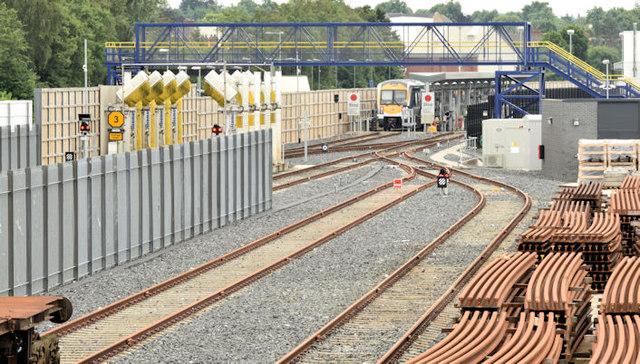 Railway sidings, Adelaide, Belfast (July 2014)