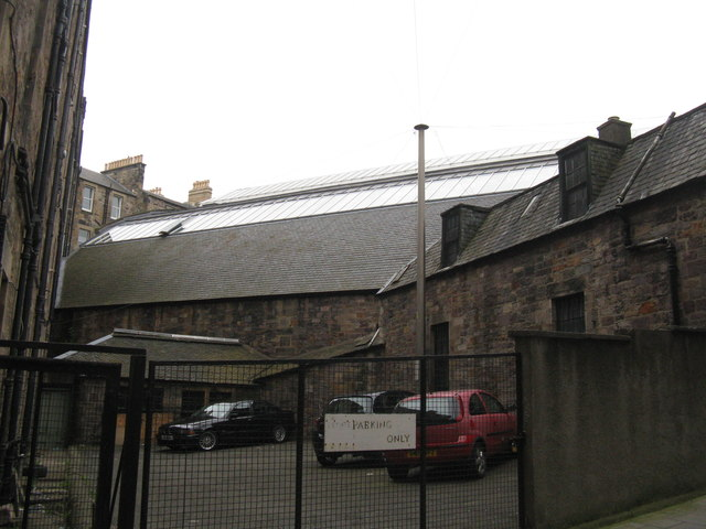 Drill hall roof, viewed from Forrest Hill