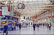 TQ3179 : Waterloo Station concourse, 1997 by Ben Brooksbank