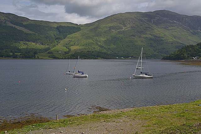 Yachts at anchor on Loch Leven