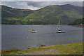 NN0958 : Yachts at anchor on Loch Leven by Nigel Brown