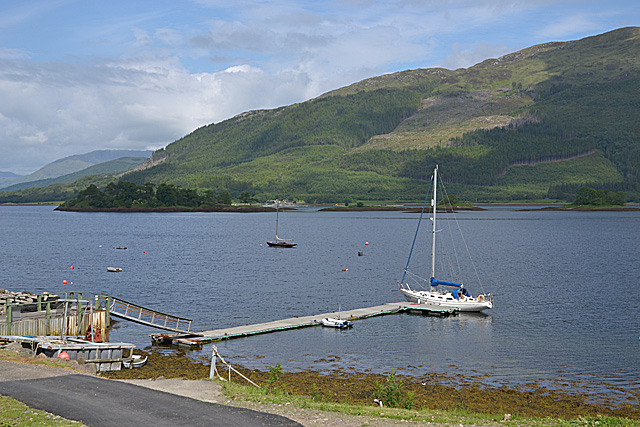 Boat pontoon on Loch Leven