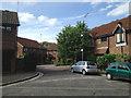 TQ3276 : Evesham Walk off Love Walk, north side, Camberwell by Robin Stott
