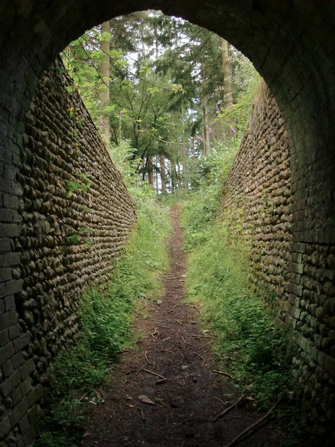 View from beneath an archway at Briary Hill, Dick Focks Common