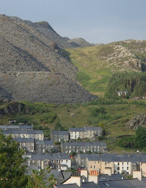 A corner of a slate mining town