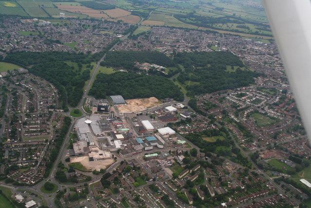 Hazel Wood, Corby: aerial 2014
