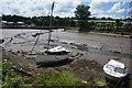 SW8344 : Beached boats in Truro by Bill Boaden