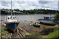 SW8343 : Beached boats in the Malpas Estuary by Bill Boaden